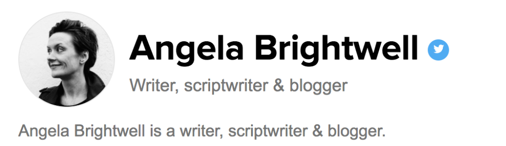 Angela's Huffington Post profile